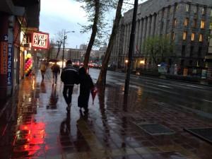 The cruel April rain.
